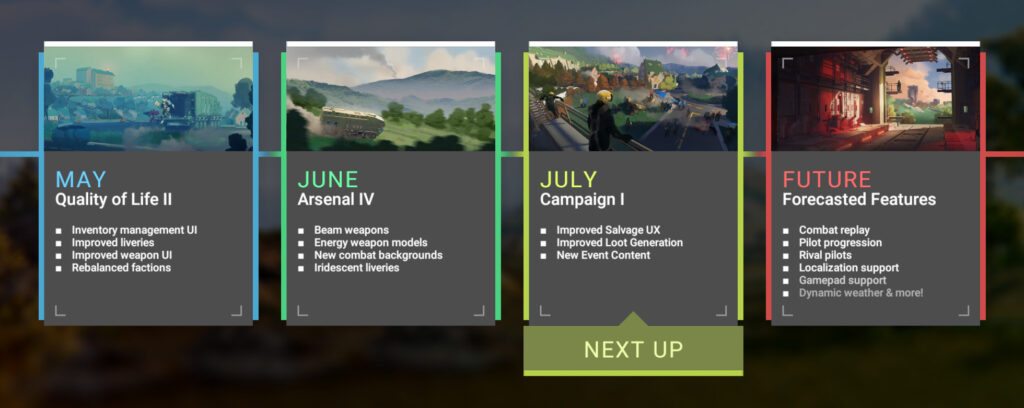 Upcoming features in June: Improved Salvage Experience, Improved Loot Generation, and New Event Content